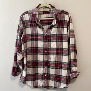 Vintage L.L. Bean Plaid Flannel Button Down Shirt